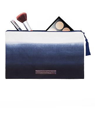 Mara Mea Cosmetic Pouch Salty Sea - Indigo - 100% Cotton Canvas Makeup Bags & Pouches