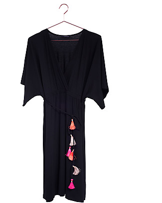 Mara Mea Dancing Beauty, Maternity and Nursing Dress, Black - Super soft viscose! Dresses