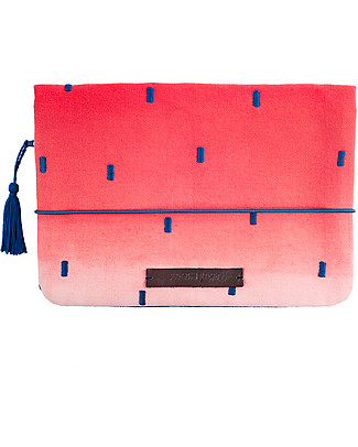 Mara Mea Diaper Clutch Art Affair, Red Dip Dye Diaper Changing Bags & Accessories