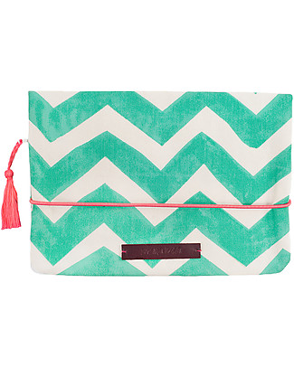 Mara Mea Diaper Clutch Coco Heartbeat, Turquoise Zigzag Diaper Changing Bags & Accessories