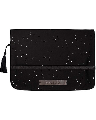 Mara Mea Diaper Clutch Coming Storm - Black/White Dots - Cotton  null