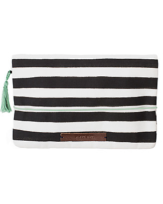 Mara Mea Diaper Clutch Modern Hippie –Black/White Stripes - Cotton Canvas Diaper Changing Bags & Accessories