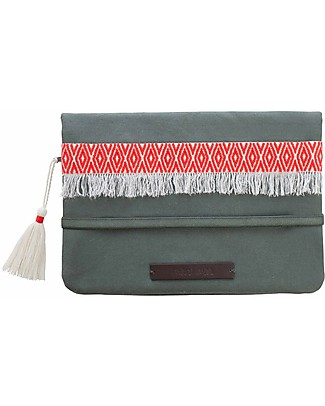 Mara Mea Diaper Clutch Olive Blossom - Olive - Cotton  Diaper Changing Bags & Accessories
