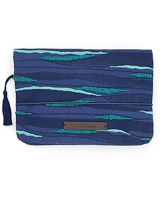 Mara Mea Diaper Clutch Print Parade - Blue - Cotton Canvas Diaper Changing Bags & Accessories
