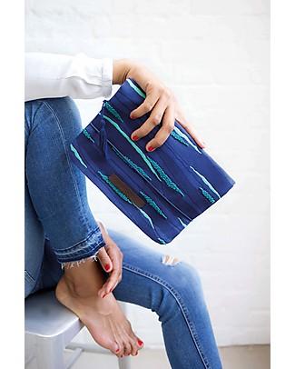 Mara Mea Diaper Clutch Print Parade - Blue - Cotton Canvas Diaper Changing Bags & Accessories