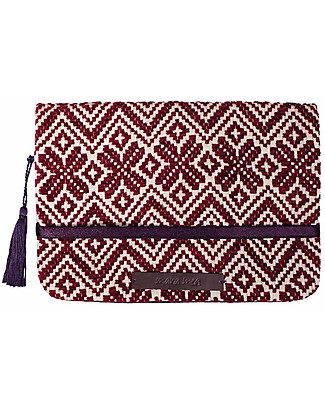 Mara Mea Diaper Clutch Purple Wall - Bordeaux - Cotton  Diaper Changing Bags & Accessories