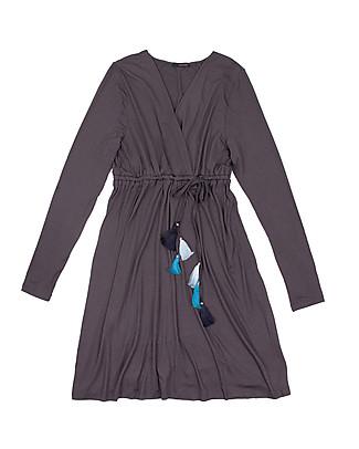 Mara Mea Feather Love Pregnancy and Nursing Dress, Grey - Elasticated viscose Dresses