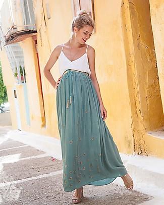 Mara Mea Full Bloom, Maternity Long Skirt, Mint - Super Soft Viscose! Skirts