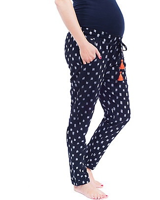 Mara Mea Inca Trail Maternity Pants, Navy - 100% cotton Trousers