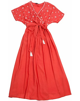 Mara Mea Island Girl, Pregnancy and Nursing Dress, Red - 100% viscose Dresses