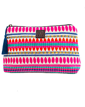 Mara Mea Pineapple Lily Pouch, Multicolour - 15 x 23 cm Makeup Bags & Pouches