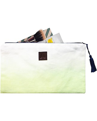 Mara Mea Pouch Cool Breeze – Lime Dip Dye – Cotton Canvas Makeup Bags & Pouches