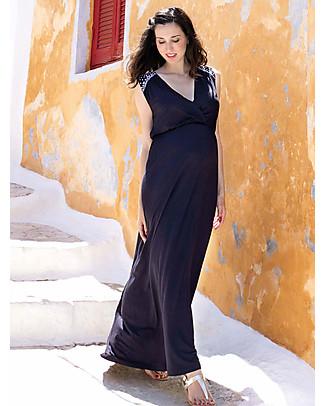 Mara Mea Soul Sister, Maternity and Nursing Maxi Dress, Navy - Super Soft Viscose! Dresses