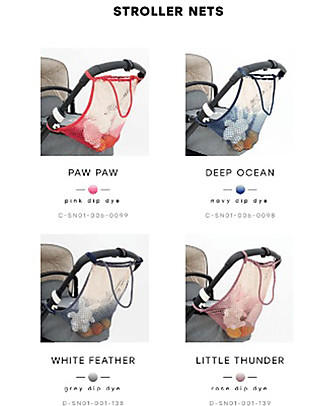 Mara Mea Stroller Net White Feather, Grey - 100% cotton Stroller Accessories