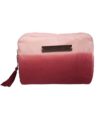 Mara Mea Toiletry Bag, Rosehip, Burgundy Color Gradient -  Cotton Makeup Bags & Pouches