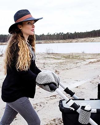 Mara Mea Universal Handwarmer Proud Rider - Black/White Stroller Accessories