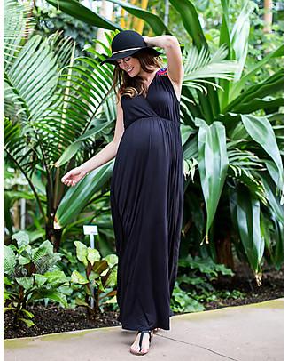 Mara Mea Urban Jungle, Maternity and Nursing Maxi Dress, Black - Soft jersey! Dresses