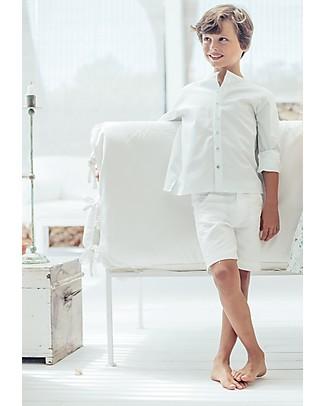 Maria Bianca Chino Shorts, White - 100% Linen Shorts