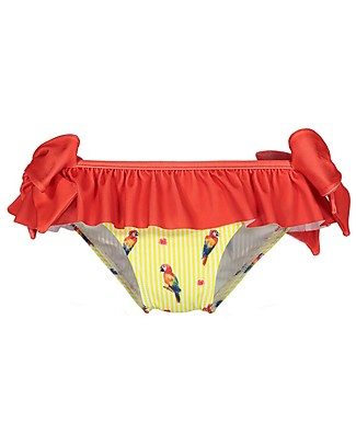 Maria Bianca Girl Bikini Bottom with Red Bows, Parrots Bikinis And Tankinis