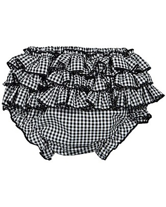 Maria Bianca Squared Bloomers for Girls, Black - 100% Cotton Shorts