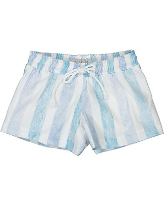 Maria Bianca Swim Trunks for Boys, with Blue and White Stripes  Swimming Trunks