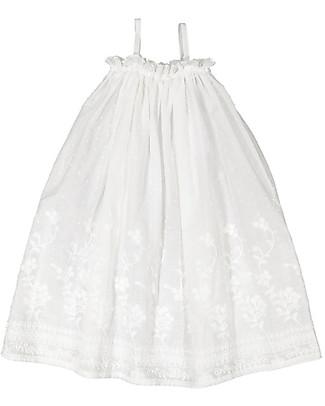 Maria Bianca Vaiana Embroidered Plumetti Dress, White - 100% Cotton Dresses