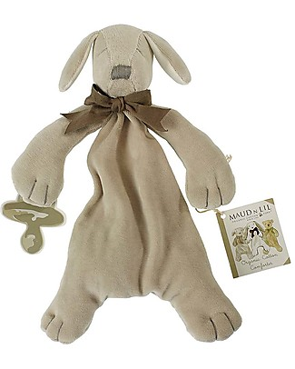 Maud N Lil DouDou Comforter with Gift Box - Paws Grey - 100% Organic Cotton! Doudou & Comforters