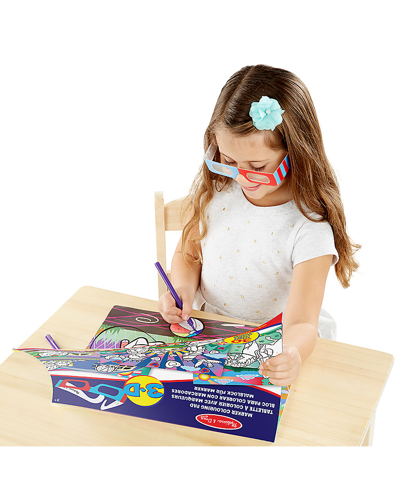 Melissa & Doug 3D Coloring Book - Girls girl