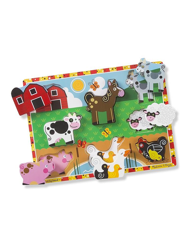 Melissa Doug Farm Chunky Puzzle 8 Pieces Unisex Bambini