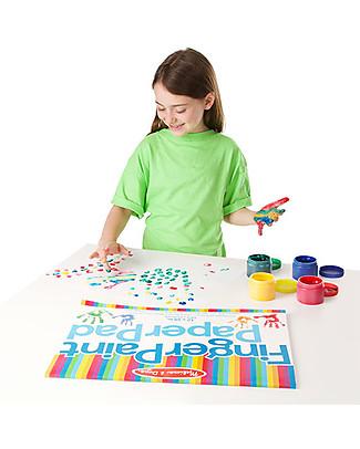 Melissa & Doug Finger Paint Set, 4 colours - Great gift idea! Colouring Activities