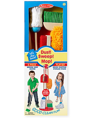 Melissa & Doug Kids Cleaning Set, 6 pieces - Fun and education! Story Making Games