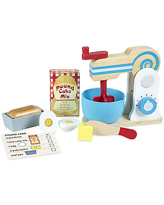 Melissa & Doug Make-A-Cake Mixer Set, 11 pieces - Great gift idea! Creative Toys