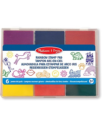 Melissa & Doug Rainbow Stamp Pad - 6 colours Stickers & Stamps Sets
