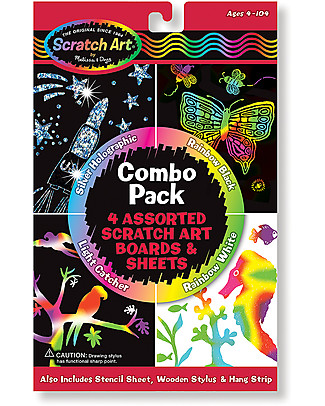 Melissa & Doug Scratch Art Combo 4 Pack - 4 different designs! Creative Toys