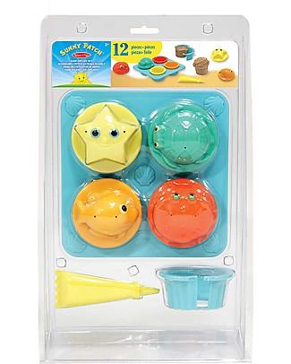 Melissa & Doug Seaside Sidekicks Sand Cupcake Set, 12 pieces - Great gift idea! Beach Toys