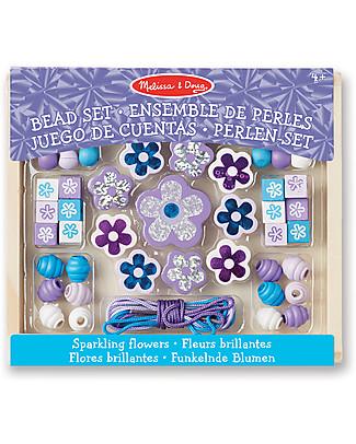 Melissa & Doug Sparkling Flowers Wooden Bead Set - 45+ Pieces Art & Craft Kits