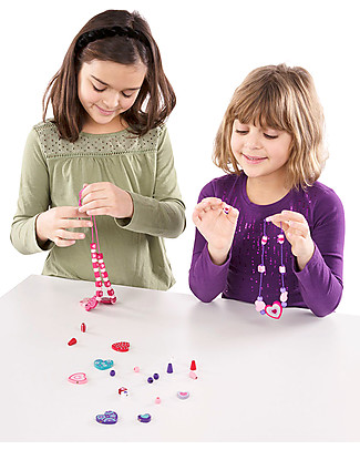 Melissa & Doug Sweet Hearts Wooden Bead Set - 120 beads and 5 cords! Art & Craft Kits