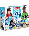Melissa & Doug Tote & Tour Pet Travel Play Set - Include plush Cat and Dog! Pretend Play