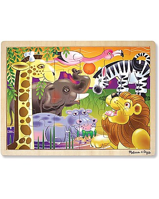 Melissa & Doug Wooden African Plains Jigsaw - 24 Pieces Puzzles