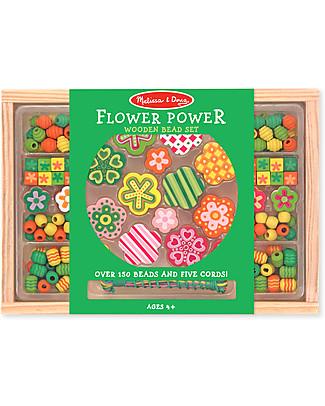 Melissa & Doug Wooden bead set - Flower Power Art & Craft Kits