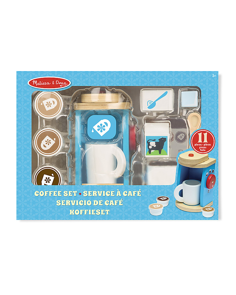 Melissa & Doug Wooden Coffee Set, 11 pieces - Great gift idea! girl