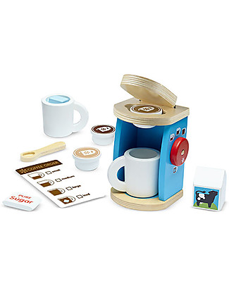 Melissa & Doug Wooden Coffee Set, 11 pieces - Great gift idea! Traditional Toys