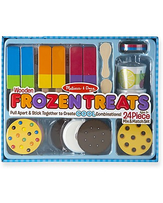 Melissa & Doug Wooden Frozen Treats Set, 24 pieces - Great gift idea! Pretend Play