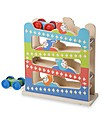 Melissa & Doug Wooden Roll & Ring Ramp Tower with Cars - Gret Gift Idea! Wooden Stacking Toys