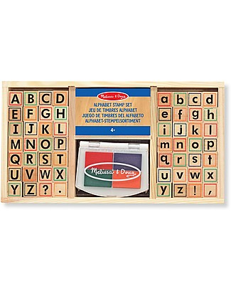 Melissa & Doug Alphabet Stamp Set - Includes inkpad - 57 Pieces Art & Craft Kits