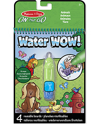 Melissa & Doug Animals Water Wow Assortment - 4 cards with refillable water pen! Creative Toys