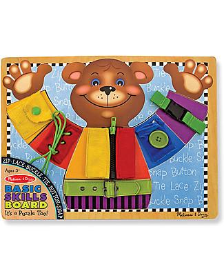 Melissa & Doug Basic Skills Board - Teaches coordination and dexterity! Montessori Toys