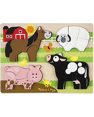 Melissa & Doug Chunky Jigsaw Puzzle, Farm Animals - 20 pieces Puzzles