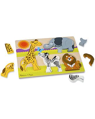 Melissa & Doug Chunky Jigsaw Puzzle, Safari - 20 pieces Puzzles