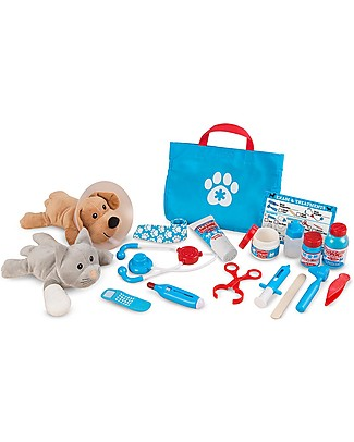 Melissa & Doug Examine & Treat Pet Vet Play Set - 18 pieces Story Making Games